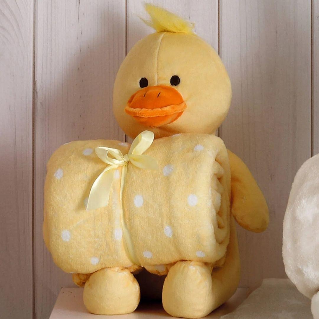 Kit Baby Patinho Amarelo Com Manta 1,00x0,75cm