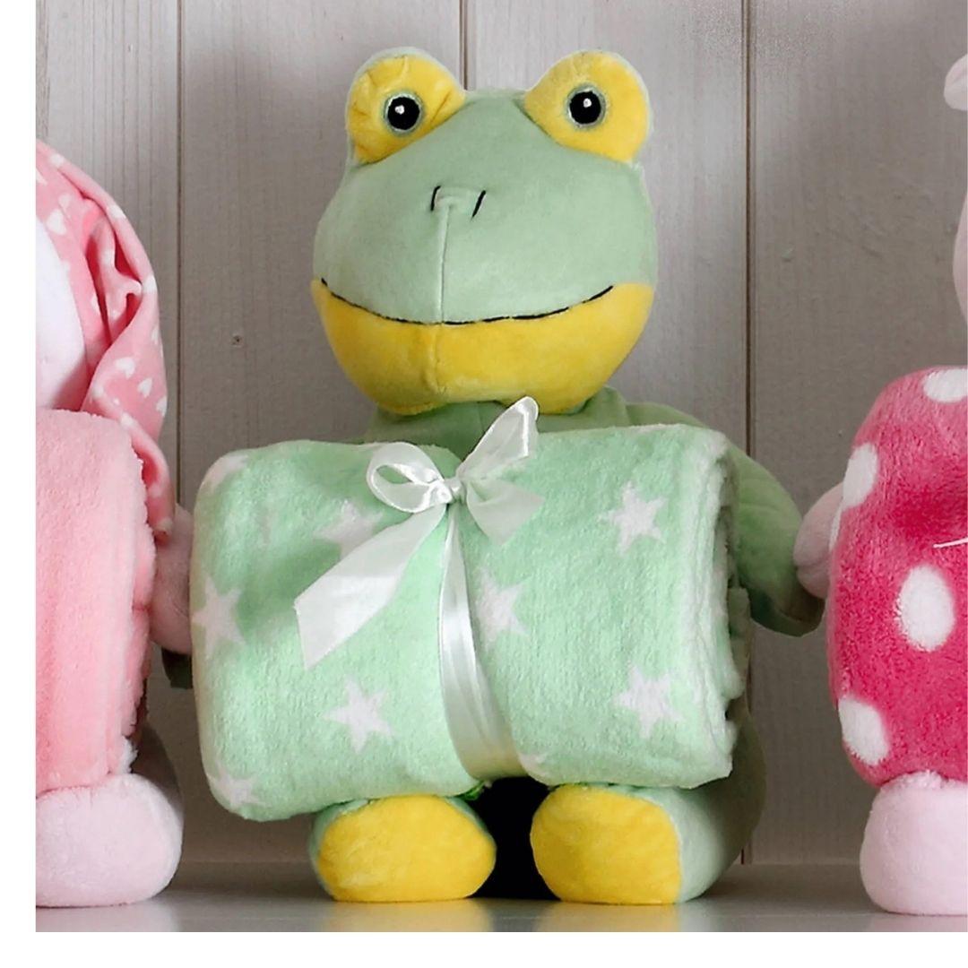 Kit Baby Sapo Verde Com Manta 1,00x0,75cm