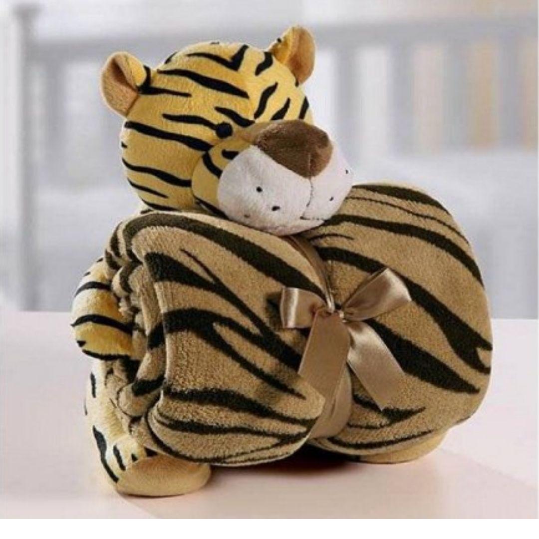 Kit Baby Tigre Com Manta 1,00x0,75cm