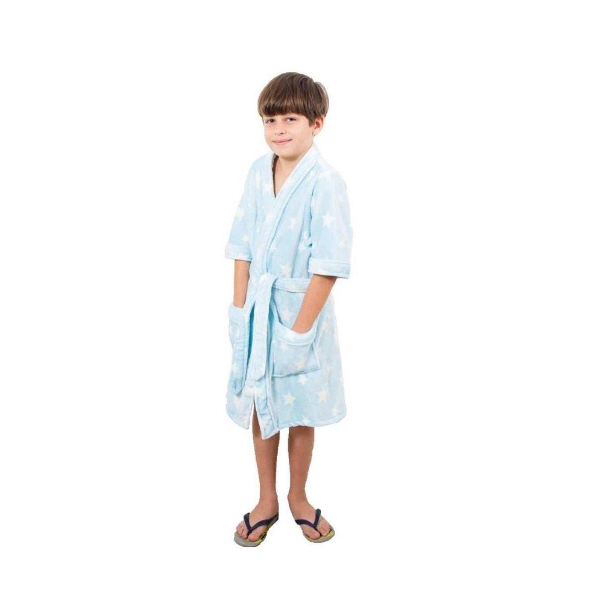 Roupão Microfibra Zuicchi Kids Azul Claro