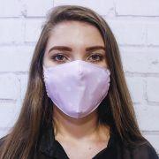 Máscara Rosa Coração