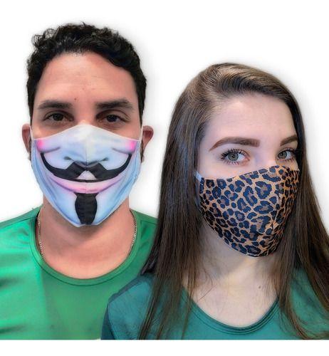 Kit 3 Máscaras de Proteção em Tecido
