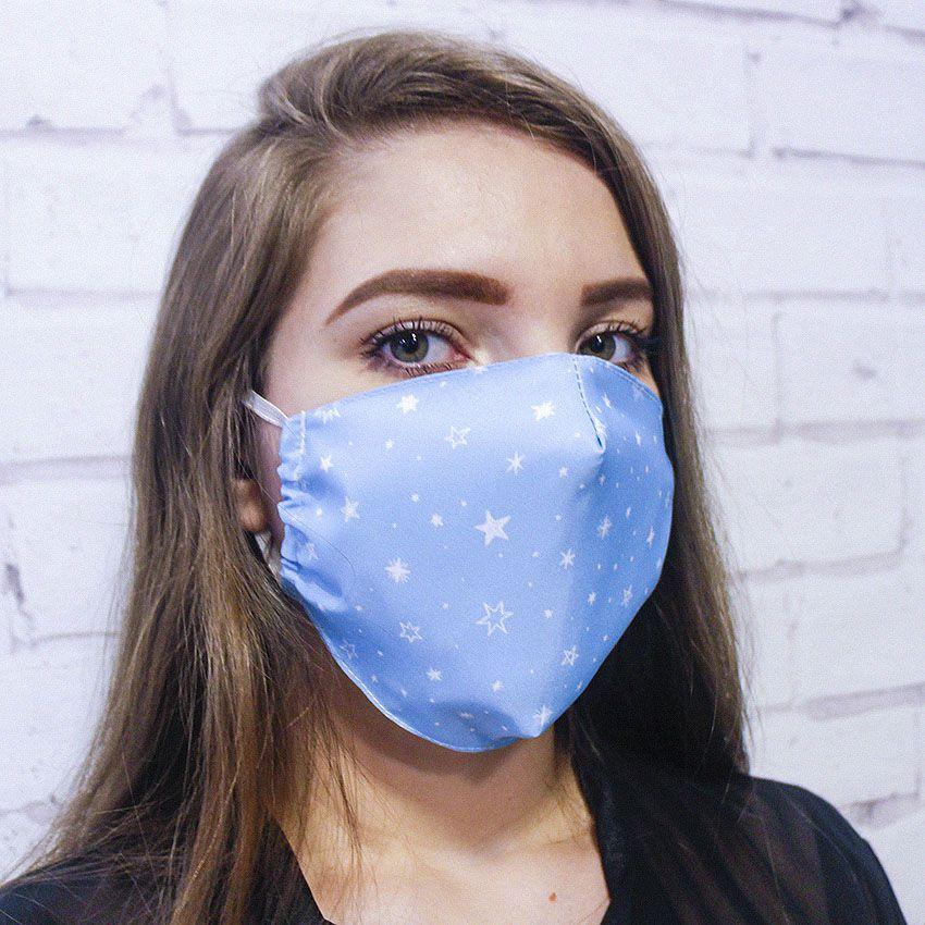 Máscara Azul Estrelas