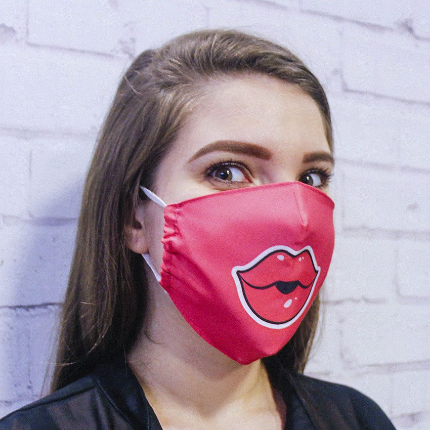 Máscara Boca Rosa
