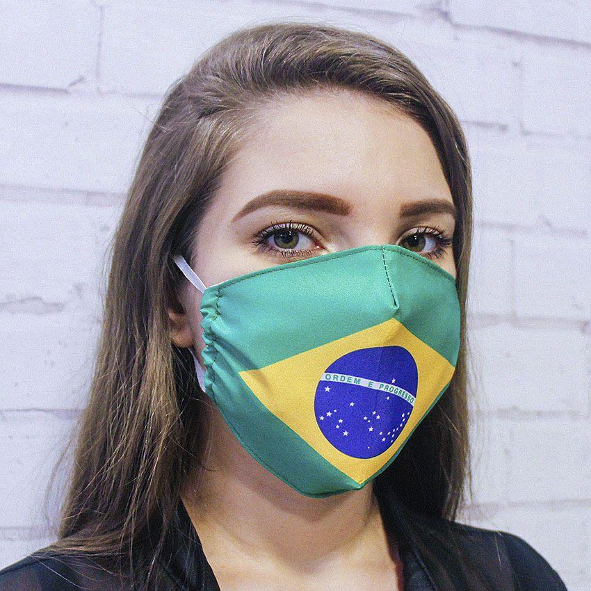 Máscara Bandeira do Brasil