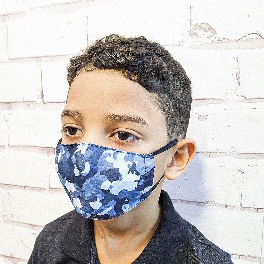 Máscara Camuflada Branca