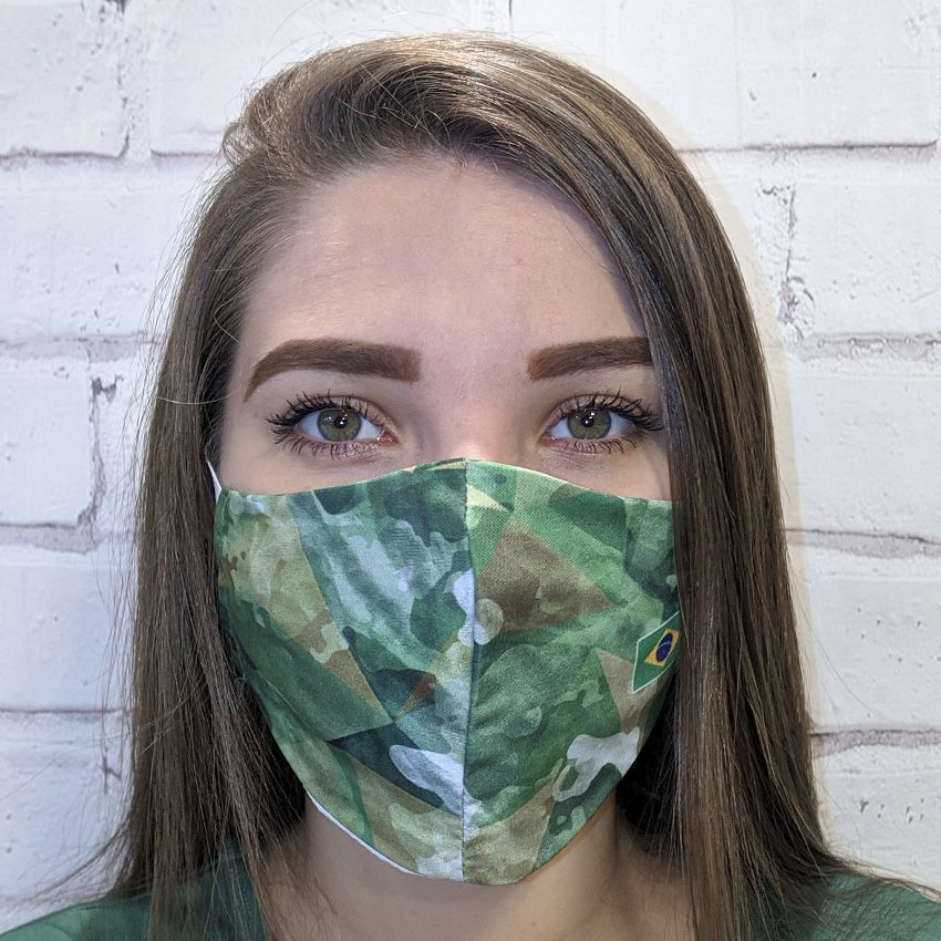 Máscara Camuflada Verde