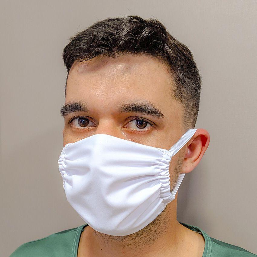 Máscara Comercial Branca - 10 unidades