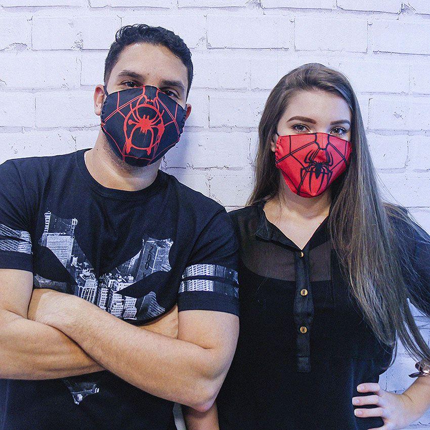 Máscara Homem Aranha Vermelho