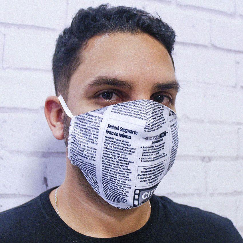 Máscara Jornal