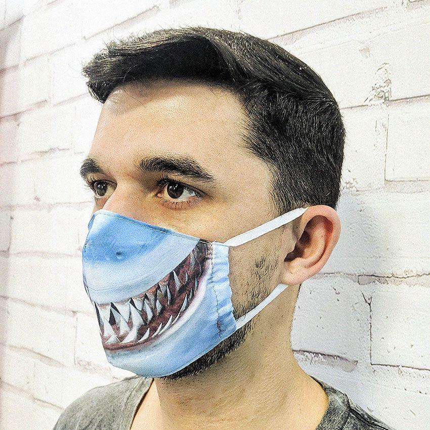 Máscara Tubarão Desenho