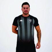 Camisa Kappa Botafogo Supporter Preta Torcedor