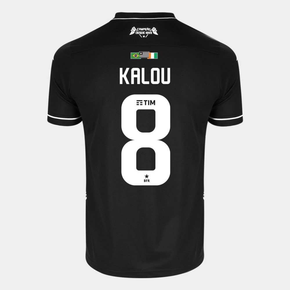 Camisa Kappa Botafogo II 2019 8 Kalou Especial