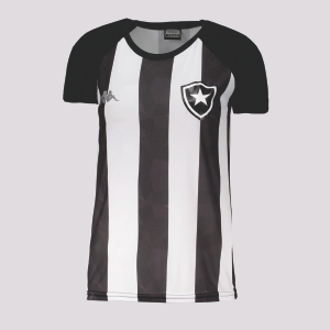 Camisa Kappa Botafogo Stripe 2019 Supporter Feminina