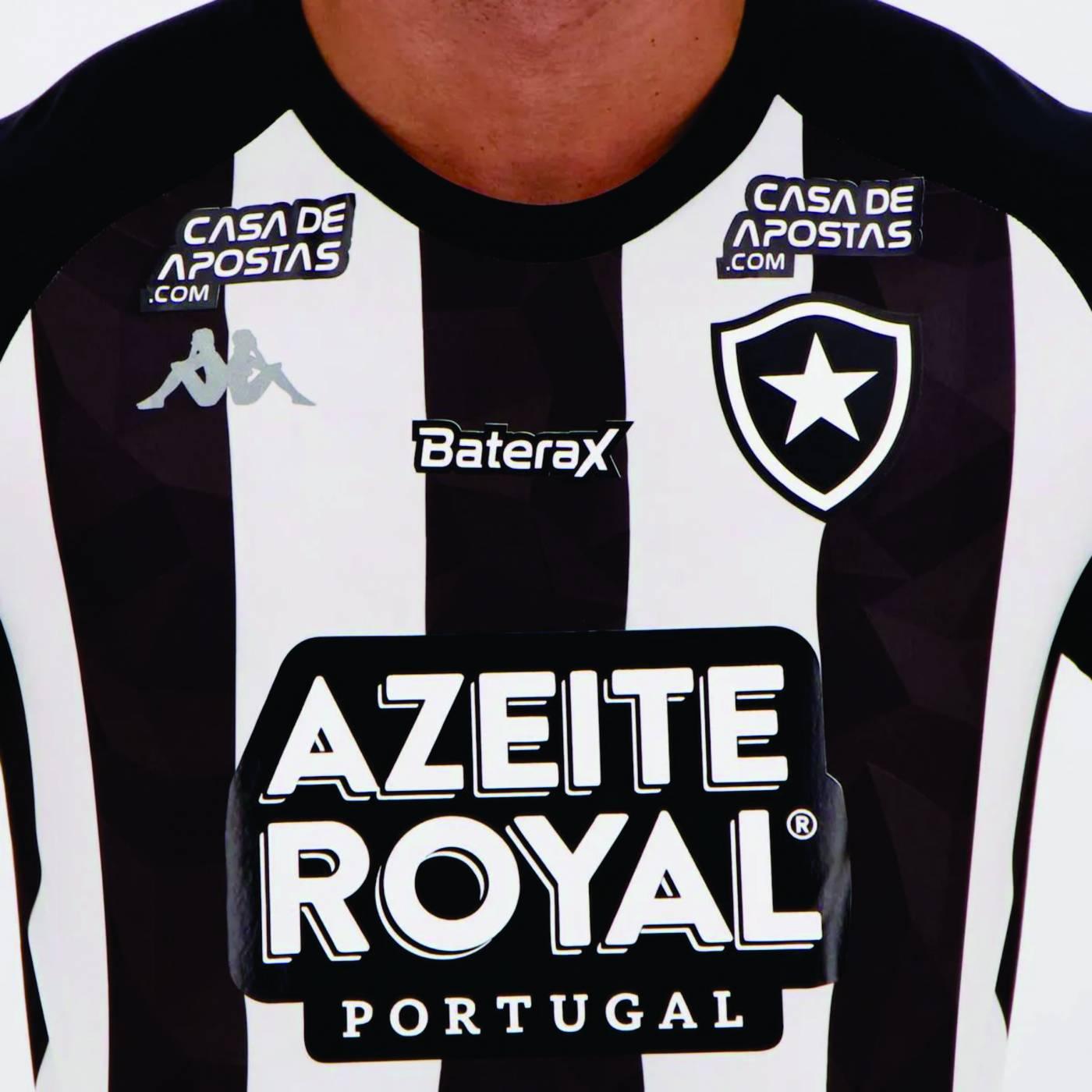Camisa Kappa Botafogo Stripe Supporter com Patrocínio