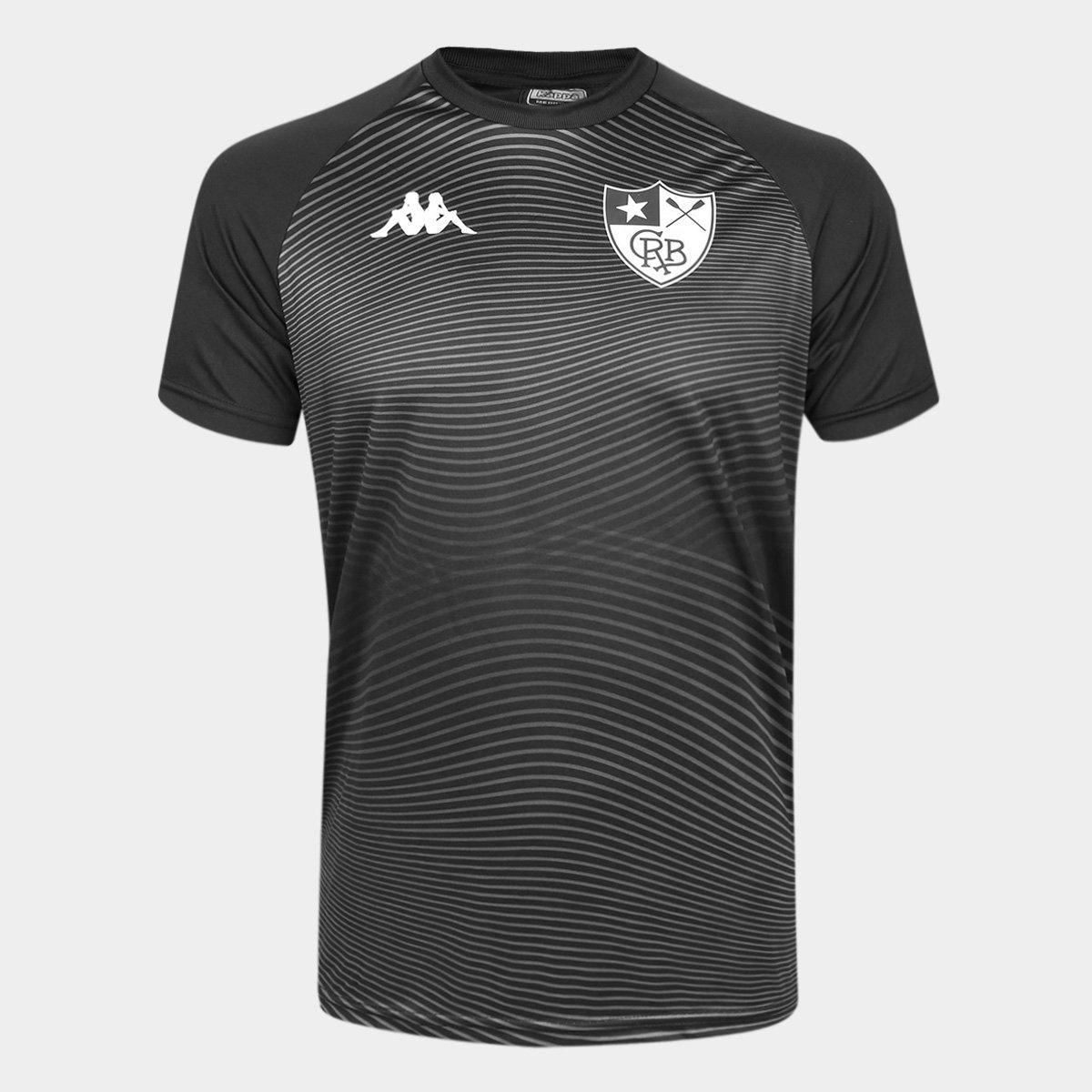 Camisa Kappa Botafogo Waves Supporter Preta Torcedor