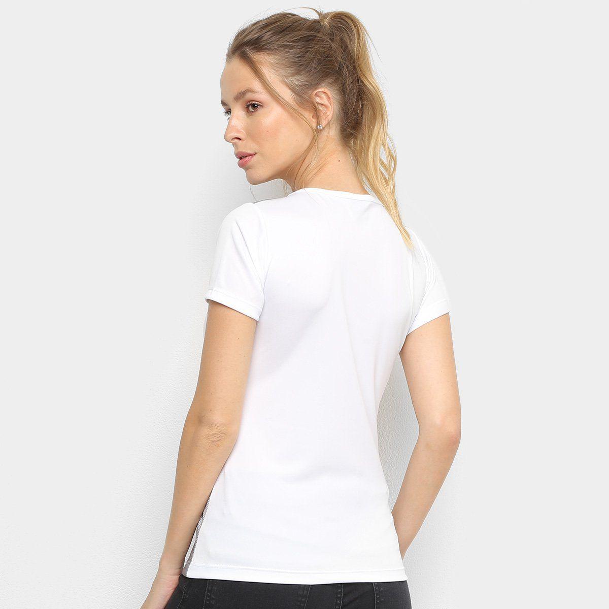 Camiseta Botafogo Escudo Kappa Feminina - Branco