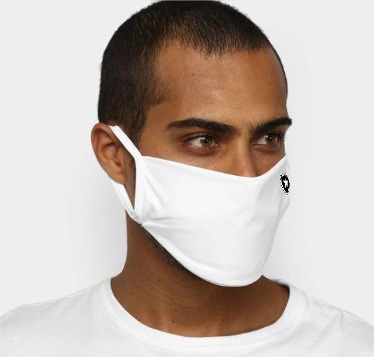 Kit de Máscaras de Proteção Botafogo Oficial - 6 Unidades - Branca