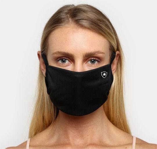 Kit de Máscaras de Proteção Botafogo Oficial - 6 Unidades - Preta