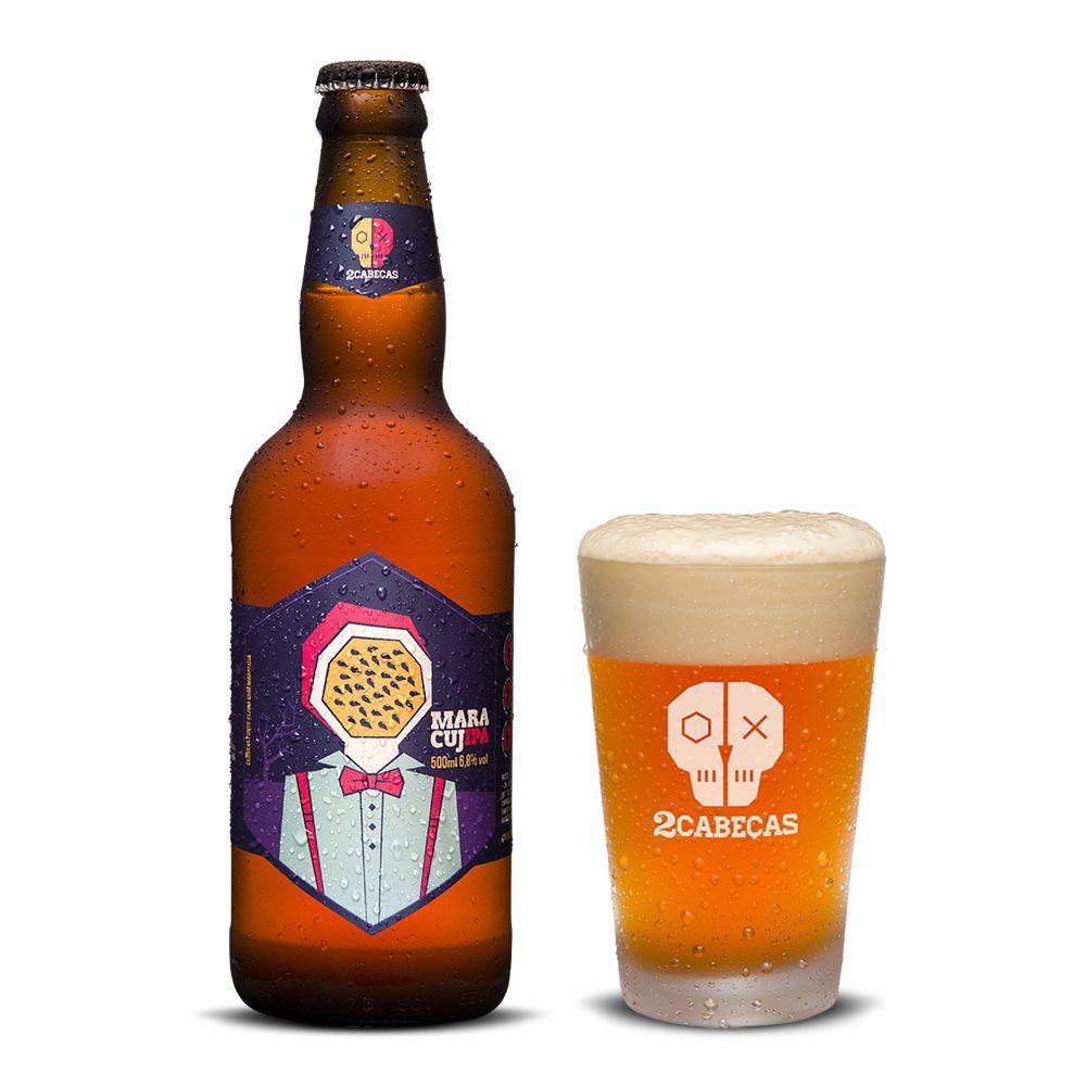 Cerveja 2 Cabeças Maracujipa 500ml
