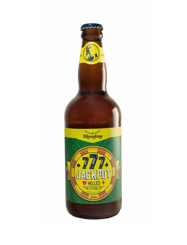Cerveja Blondine Jackpot 777 Helles 500ml