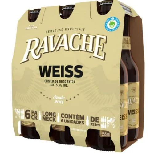 Cerveja Ravache Weiss LN 355ml - Pack com 6 unidades
