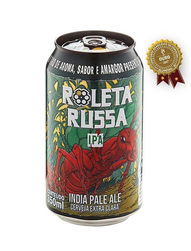 Cerveja Roleta Russa IPA Lata - 350ml