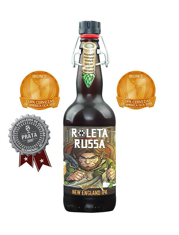 Cerveja Roleta Russa New England 500ml