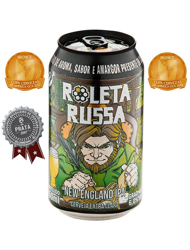 Cerveja Roleta Russa New England Lata - 350ml