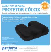 ALMOFADA ESPECIAL PROTETOR CÓCCIX GRAFITE - PERFETTO