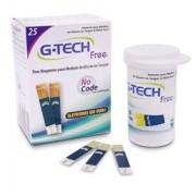 FITA DE GLICEMIA G-TECH FREE (CX C/ 25 TIRAS) MEDIÇÃO DE GLICOSE - G-TECH