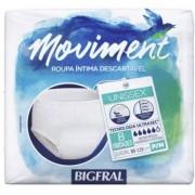 ROUPA ÍNTIMA DESCARTÁVEL BIGFRAL MOVIMENT (TAM. P/M - C/ 8 UNDS. ) UNISSEX - BIGFRAL