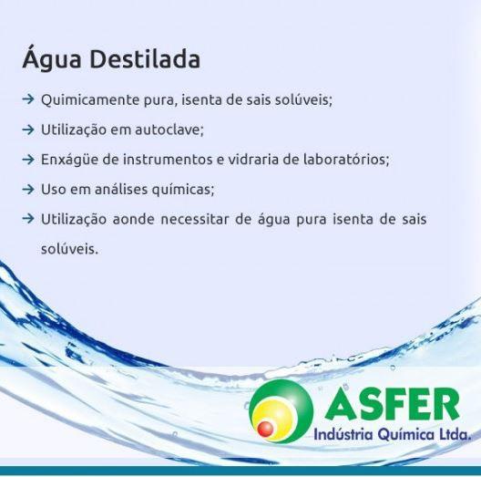 ÁGUA DESTILADA 1LITRO - ASFER