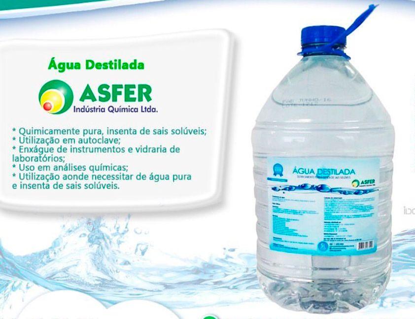 ÁGUA DESTILADA 5 LITROS - ASFER