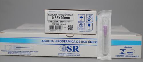 AGULHA DESCARTÁVEL 20 X 5,5 (C/100) SR