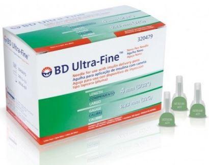 AGULHA ULTRA FINE 4MM X 0,23 MM (PCT C/10) BD