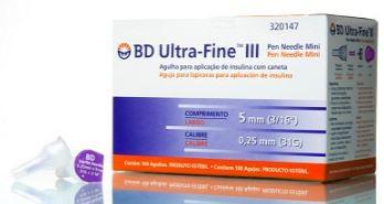 AGULHA ULTRA FINE 5MM X 0,25 MM (PCT C/ 10) BD