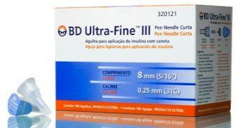 AGULHA ULTRA FINE 8MM X 0,25 MM (PCT C/10) BD