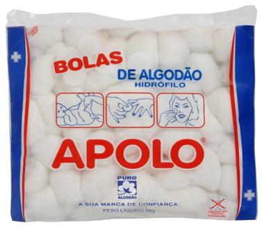 ALGODÃO HIDROFILO 50GR BOLA - APOLO