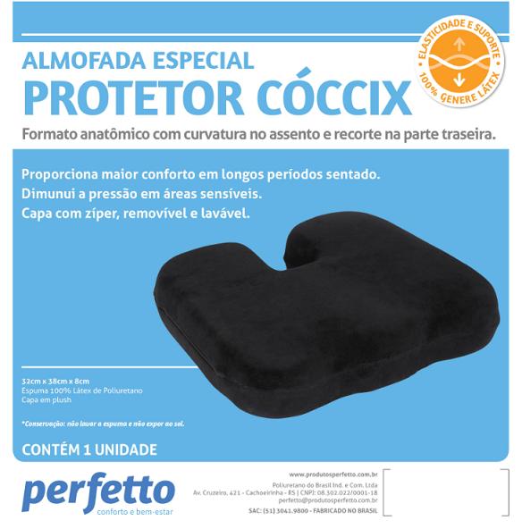 ALMOFADA ESPECIAL PROTETOR CÓCCIX PRETA - PERFETTO