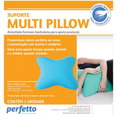 ALMOFADA MULTI PILLOW PRETA - PERFETTO