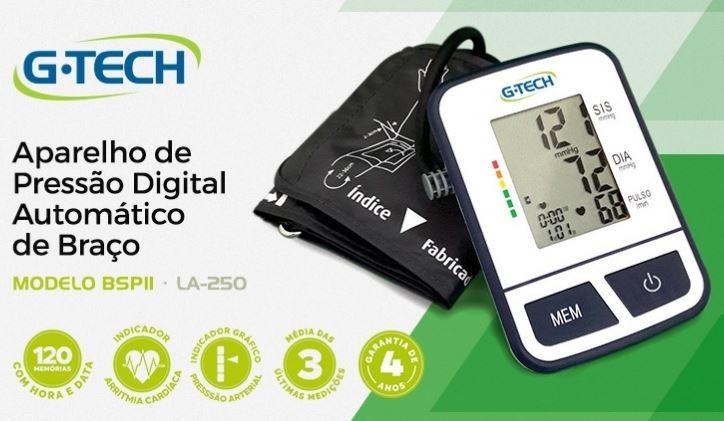 APARELHO DE PRESSÃO DIGITAL DE BRACO BPS11 G-TECH