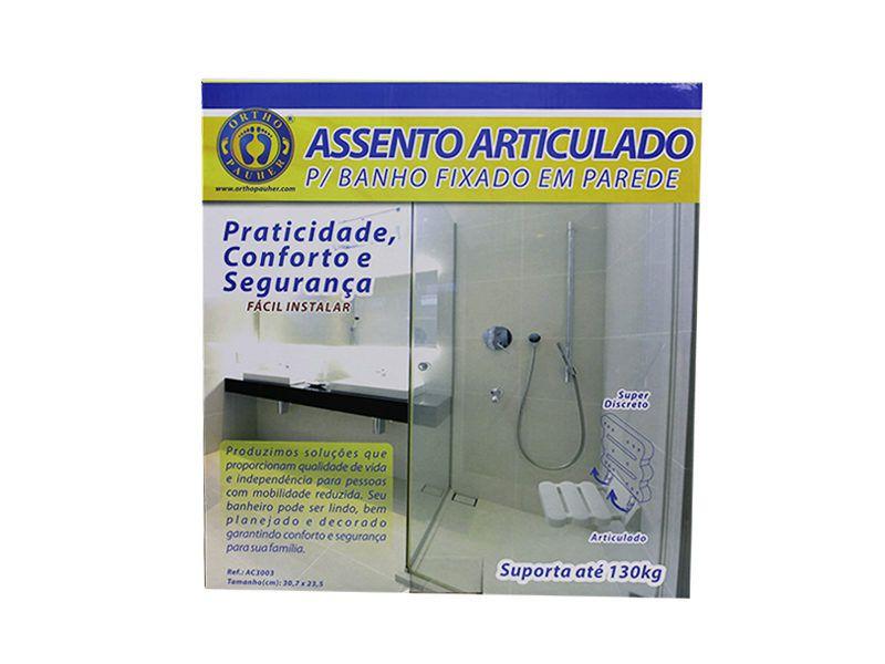 ASSENTO ARTICULADO PARA BANHO FIXADO EM PAREDE  AC3003 - ORTHO PAUHER