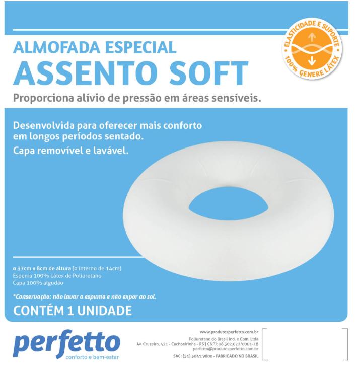 ASSENTO SOFT LÁTEX PRETO - PERFETTO