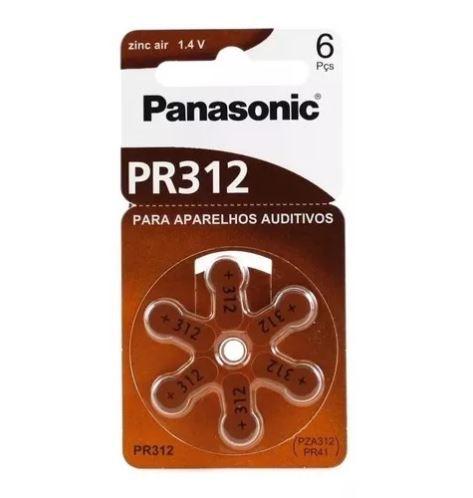 BATERIA PARA APARELHO AUDITIVO PR312H C/06 - PANASONIC