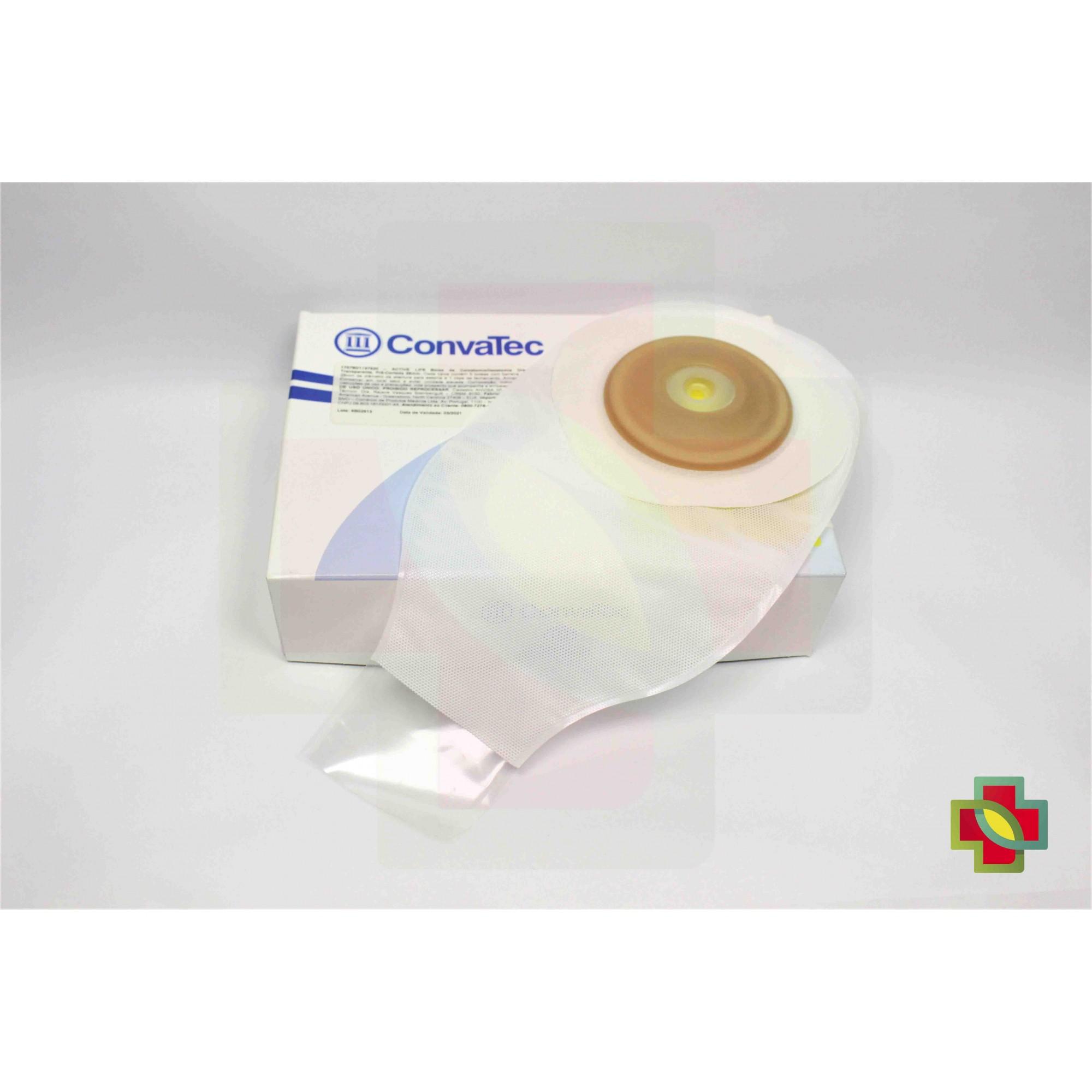 BOLSA DE COLOSTOMIA ACTIVE-LIFE 1 PEÇA CONVEXA TRANSP 28MM UND.175780 CONVATEC
