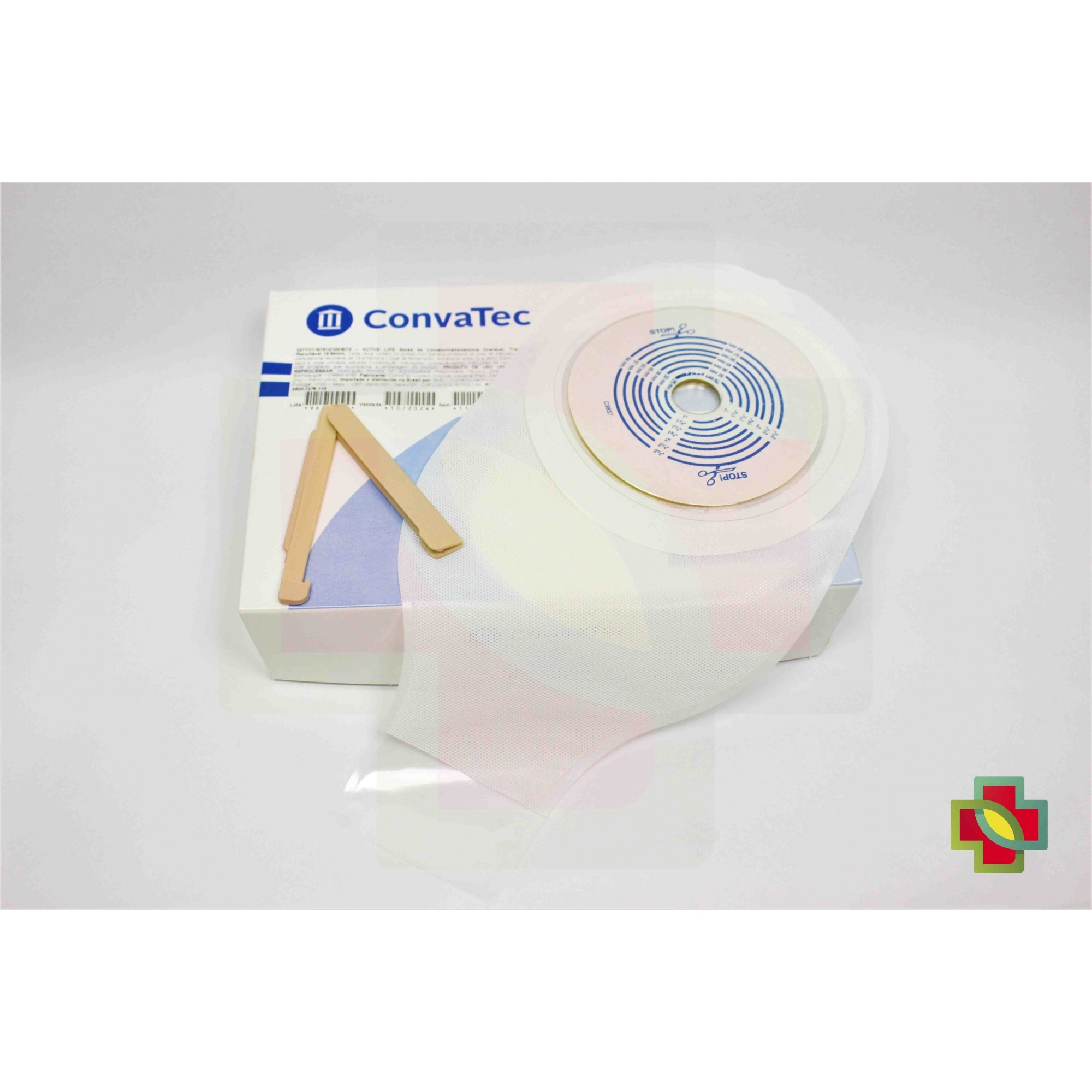 BOLSA DE COLOSTOMIA ACTIVE-LIFE TRANSPARENTE 19/64MM (CX C/ 20) - CONVATEC