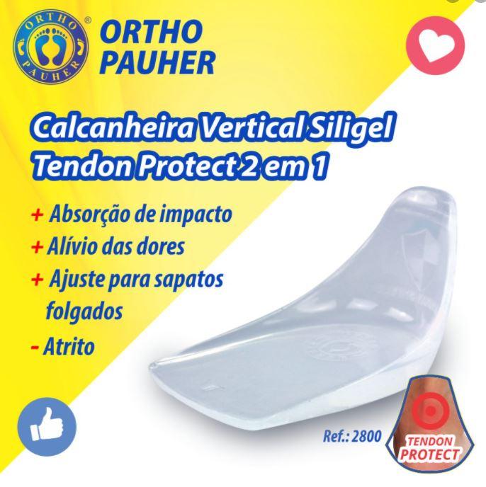 CALCANHEIRA VERTICAL SILIGEL TENDON PROTECT 2 EM 1 REF. 2800 - ORTHO PAUHER