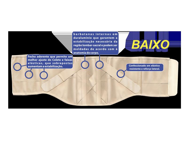COLETE PUTTI ELÁSTICO BAIXO (TAM.GG) AC617 - ORTHO PAUHER