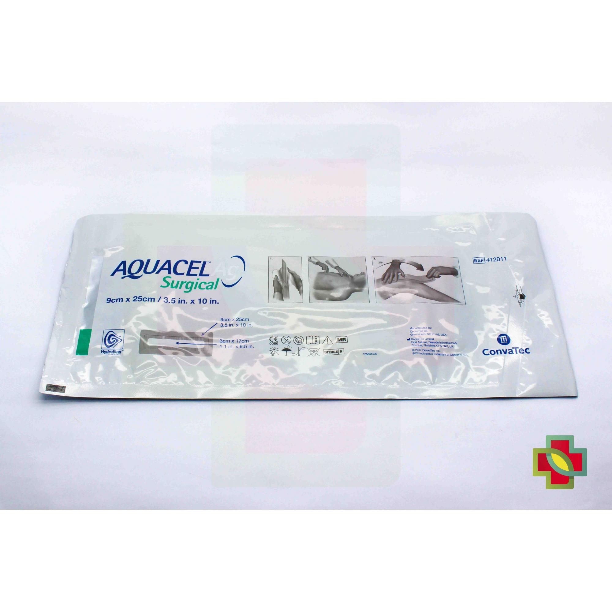 CURATIVO AGUACEL AG SURGICAL 09 X 25 UND 412011 - CONVATEC